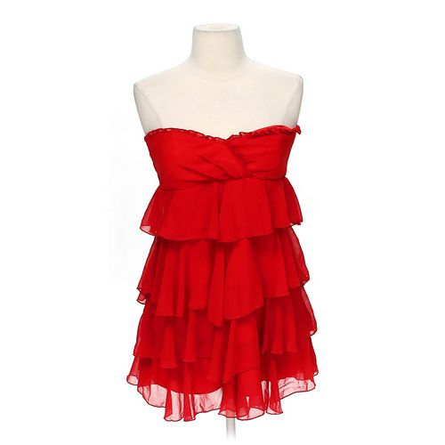 Wet Seal Strapless Ruffled Dress in size JR 7 at up to 95% Off - Swap.com