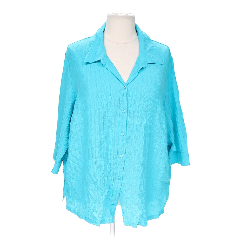 White stag stretch button up shirt online consignment for Polyester button up shirt