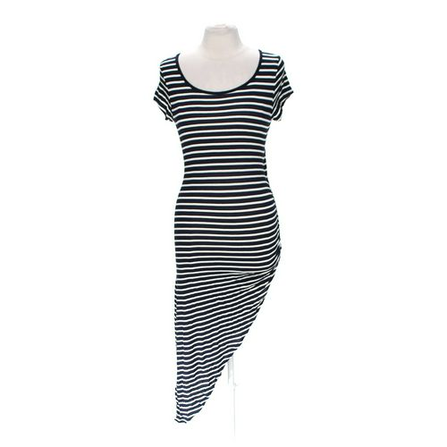 Body Central Striped Asymmetrical Dress in size L at up to 95% Off - Swap.com