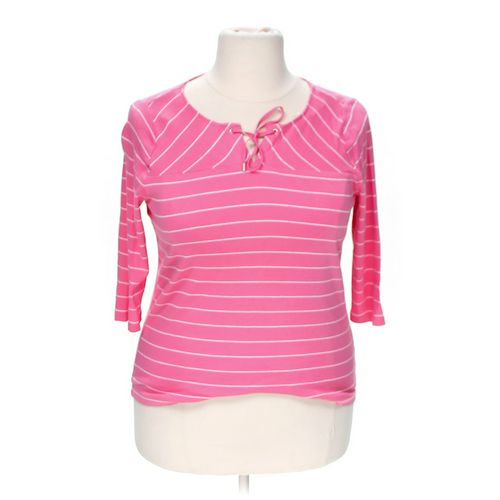Chaps Striped Blouse in size 1X at up to 95% Off - Swap.com