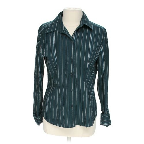 New York & Company Striped Blouse in size L at up to 95% Off - Swap.com