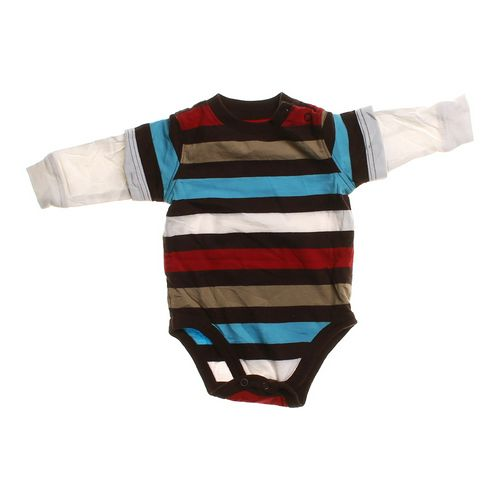 Jumping Beans Striped Bodysuit in size NB at up to 95% Off - Swap.com