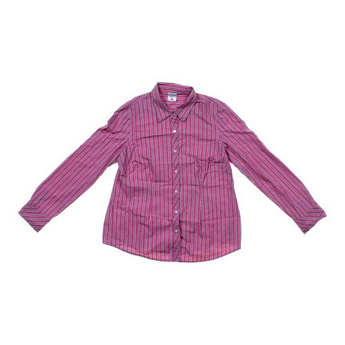 Motherhood Maternity Striped Button-up Maternity Shirt in size M (8-10) at up to 95% Off - Swap.com