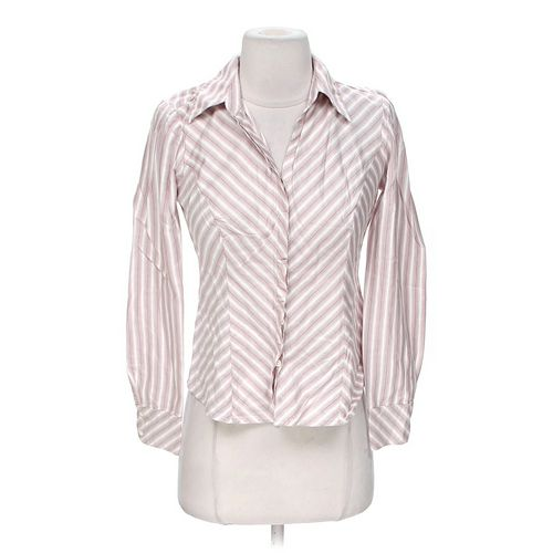 Ann Taylor Loft Striped Button-up Shirt in size 0 at up to 95% Off - Swap.com