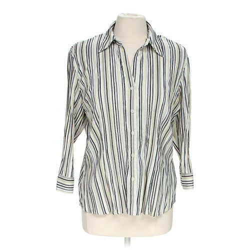 Apt. 9 Striped Button-up Shirt in size M at up to 95% Off - Swap.com