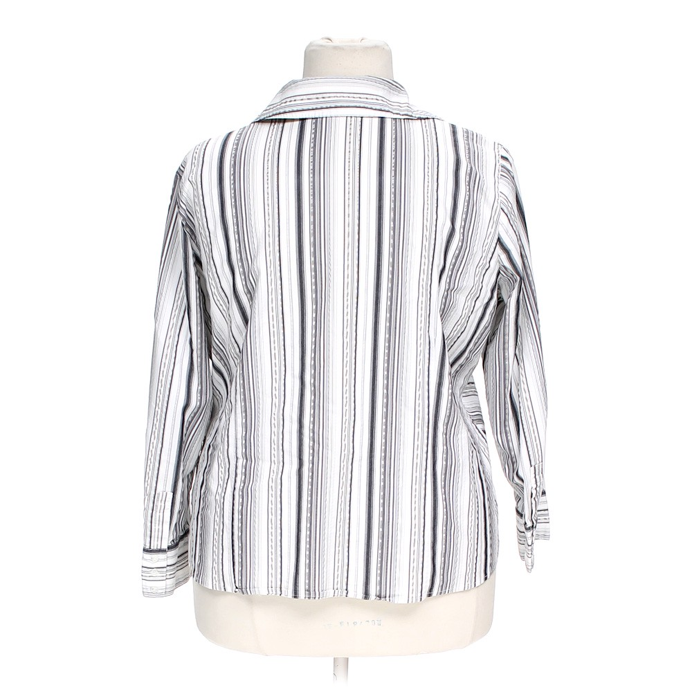 apt 9 striped button up shirt in size 2x at up to 95 off