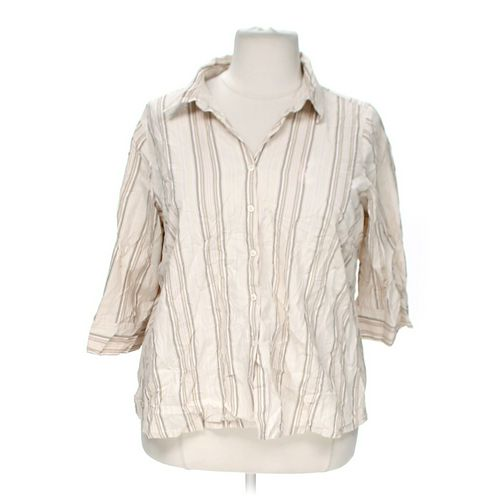 Avenue Striped Button-up Shirt in size 22 at up to 95% Off - Swap.com