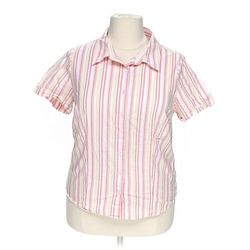 Bobbie Brooks Striped Button-Up Shirt in size 2X at up to 95% Off - Swap.com