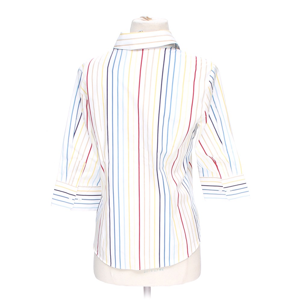 White george striped button up shirt in size s at up to 95 for Polyester button up shirt