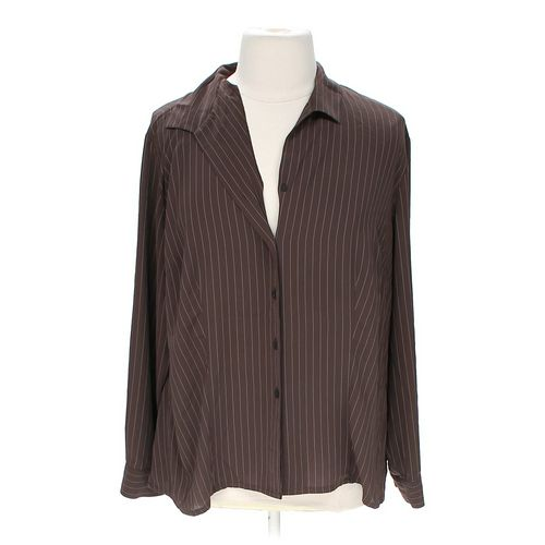 Covington Striped Button-up Shirt in size 24 at up to 95% Off - Swap.com