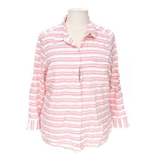Faded Glory Striped Button-up Shirt in size 18 at up to 95% Off - Swap.com