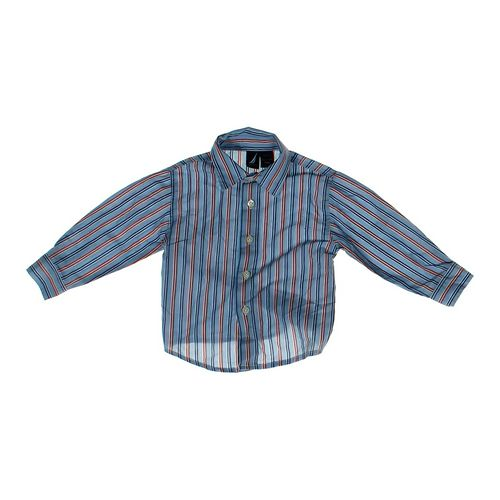 Nautica Striped Button-up Shirt in size 24 mo at up to 95% Off - Swap.com