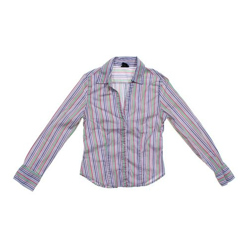 rue21 Striped Button-up Shirt in size JR 11 at up to 95% Off - Swap.com