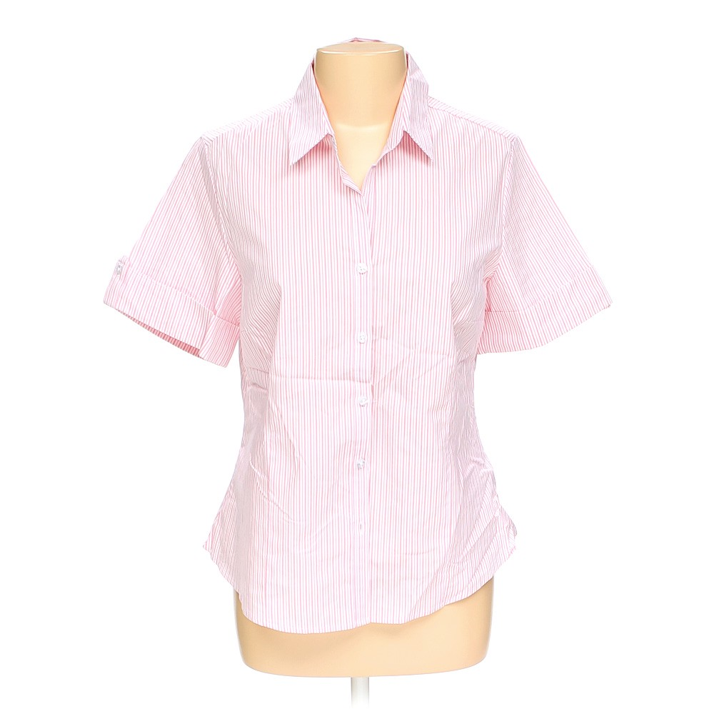 George striped button up shirt in size l at up to 95 off for Cotton button up shirt