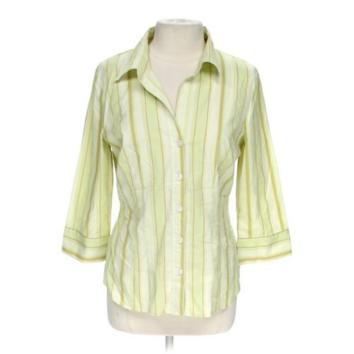 Hillard & Hanson Striped Button-up Shirt in size L at up to 95% Off - Swap.com