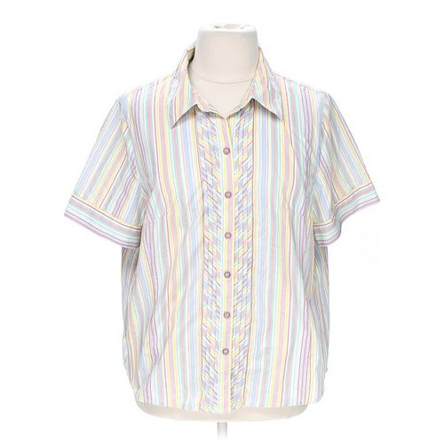 Koret Striped Button-up Shirt in size 18 at up to 95% Off - Swap.com