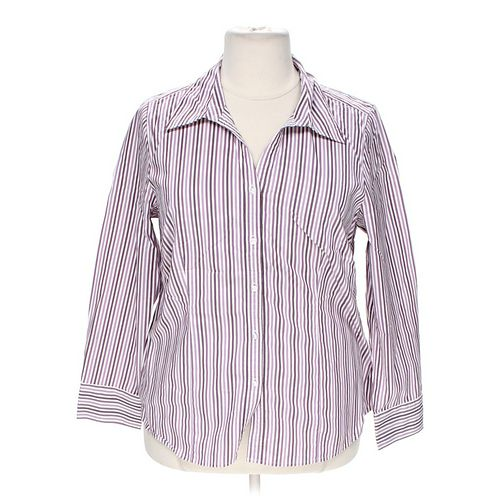 Lane Bryant Striped Button-up Shirt in size 18 at up to 95% Off - Swap.com
