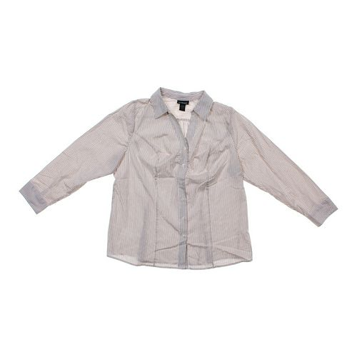 Lane Bryant Striped Button-up Shirt in size 20 at up to 95% Off - Swap.com