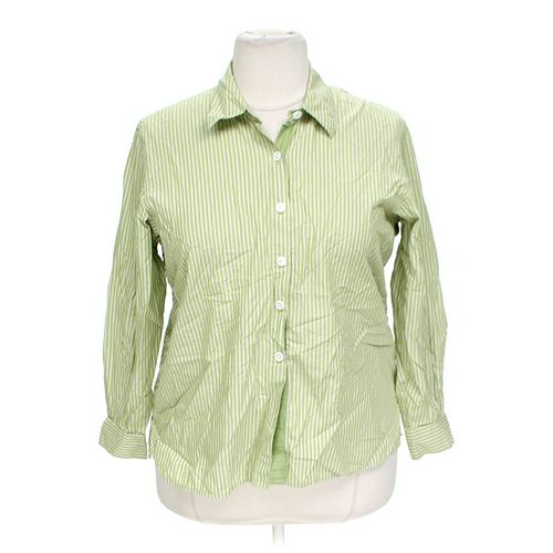 Liz Claiborne Striped Button-up Shirt in size 1X at up to 95% Off - Swap.com