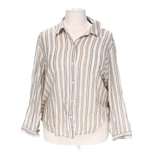 Liz Claiborne Striped Button-up Shirt in size 3X at up to 95% Off - Swap.com