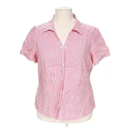 St. John's Bay Striped Button-up Shirt in size 1X at up to 95% Off - Swap.com