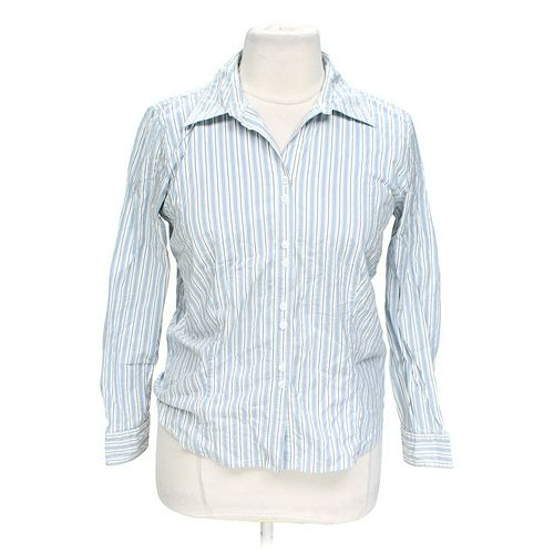 St. John's Bay Striped Button-up Shirt in size XL at up to 95% Off - Swap.com