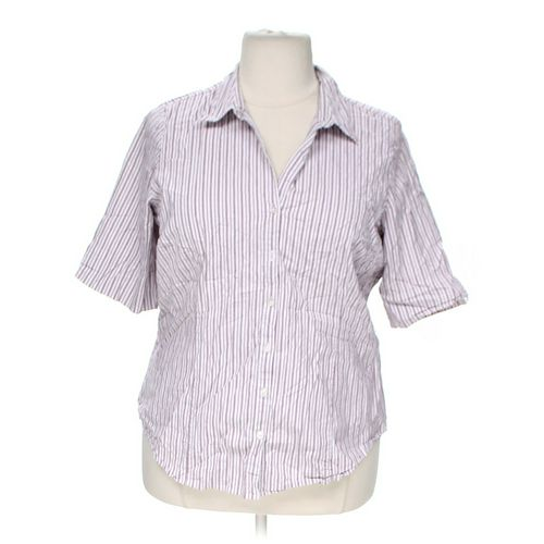 Venezia Striped Button-up Shirt in size 22 at up to 95% Off - Swap.com