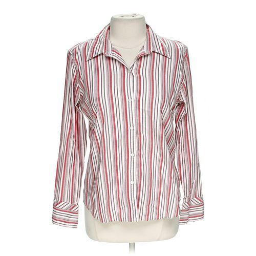 Villager By Liz Claiborne Striped Button-up Shirt in size 12 at up to 95% Off - Swap.com