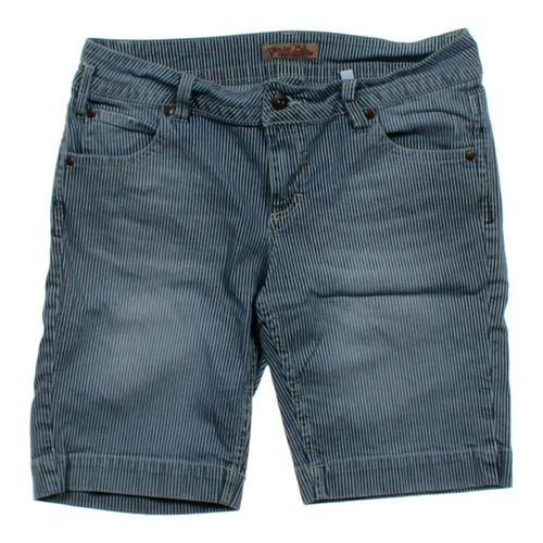 Paris Blues Striped Denim Shorts in size JR 13 at up to 95% Off - Swap.com