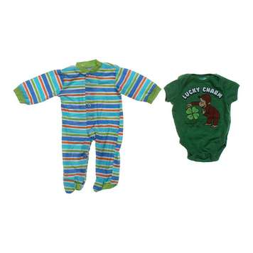 Striped Footed Pajamas & Bodysuit Set for Sale on Swap.com