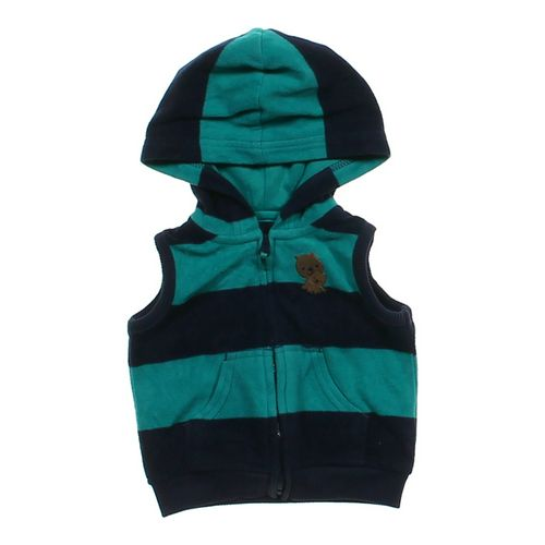 Just One You Striped Hooded Fleece Vest in size 3 mo at up to 95% Off - Swap.com