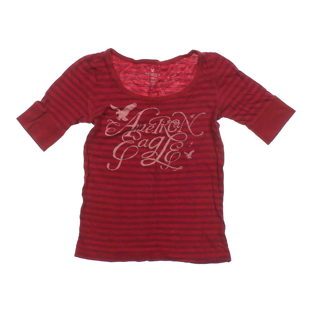 American Eagle Outfitters Striped Logo Shirt Online