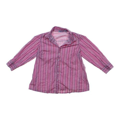 Announcements Maternity Striped Maternity Button-Up Shirt in size M (8-10) at up to 95% Off - Swap.com