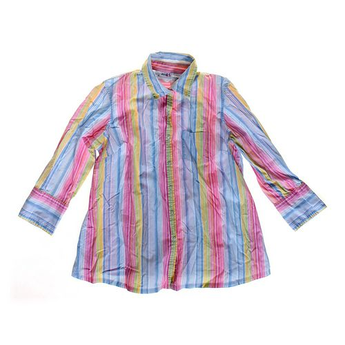 Maternity Announcements Striped Maternity Button-up Shirt in size S (4-6) at up to 95% Off - Swap.com