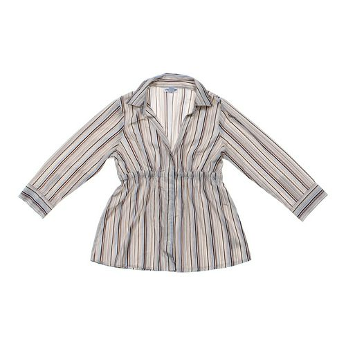 Motherhood Maternity Striped Maternity Button-up Shirt in size M (8-10) at up to 95% Off - Swap.com