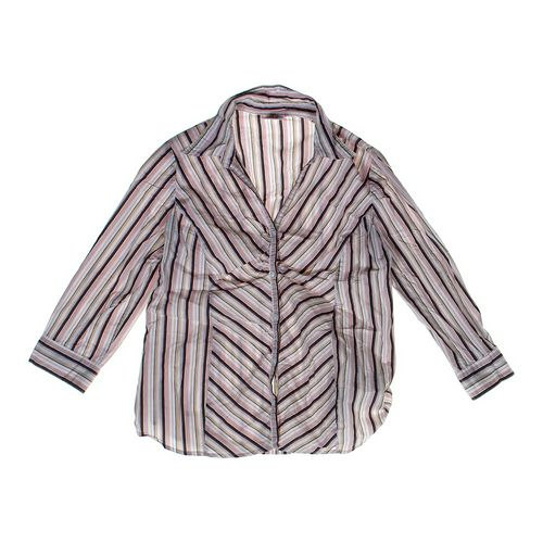 Motherhood Maternity Striped Maternity Shirt in size L (12-14) at up to 95% Off - Swap.com