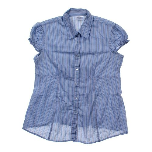 Motherhood Maternity Striped Maternity Shirt in size M (8-10) at up to 95% Off - Swap.com