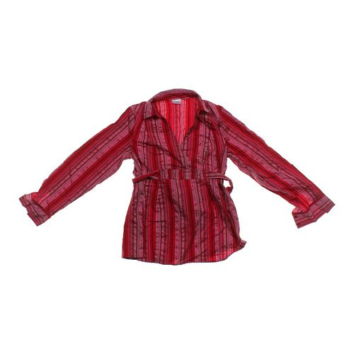 Motherhood Maternity Striped Maternity Shirt in size M at up to 95% Off - Swap.com