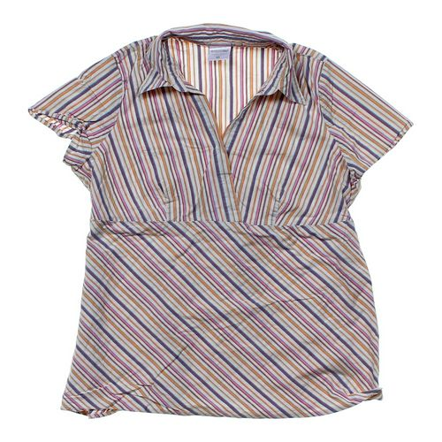 Motherhood Maternity Striped Maternity Shirt in size XL at up to 95% Off - Swap.com