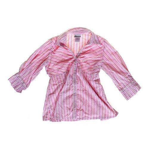 Oh Baby by Motherhood Striped Maternity Shirt in size S at up to 95% Off - Swap.com