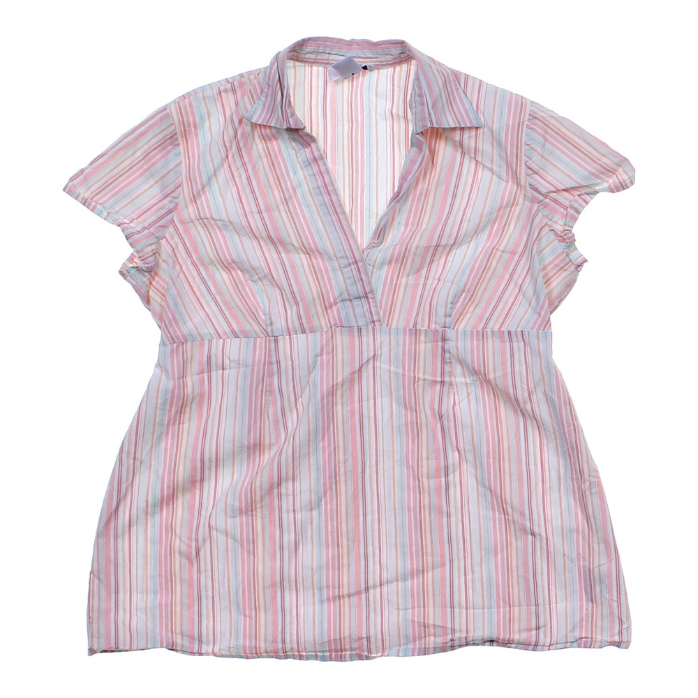 Two Hearts Maternity Striped Maternity Shirt In Size M 8