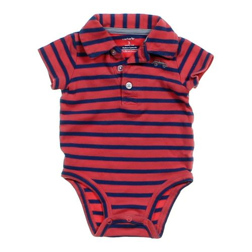 Carter's Striped Polo Bodysuit in size 3 mo at up to 95% Off - Swap.com