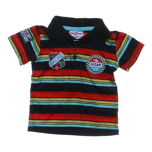 Kid Zone Striped Polo in size 6 mo at up to 95% Off - Swap.com