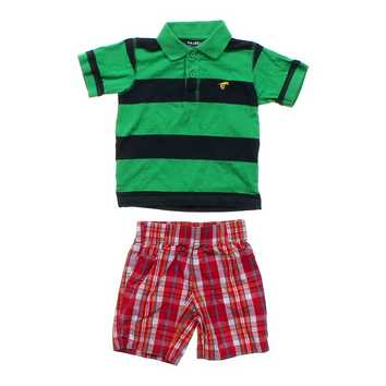 Striped Polo & Plaid Shorts Set for Sale on Swap.com