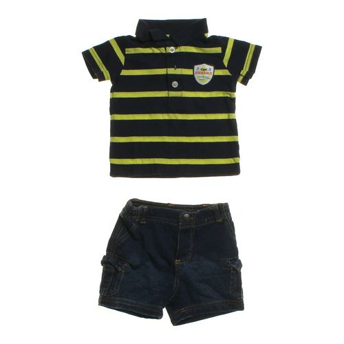 Carter's Striped Polo & Shorts Set in size 3 mo at up to 95% Off - Swap.com
