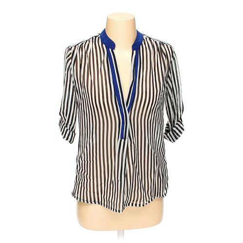 Body Central Striped Sheer Blouse in size S at up to 95% Off - Swap.com