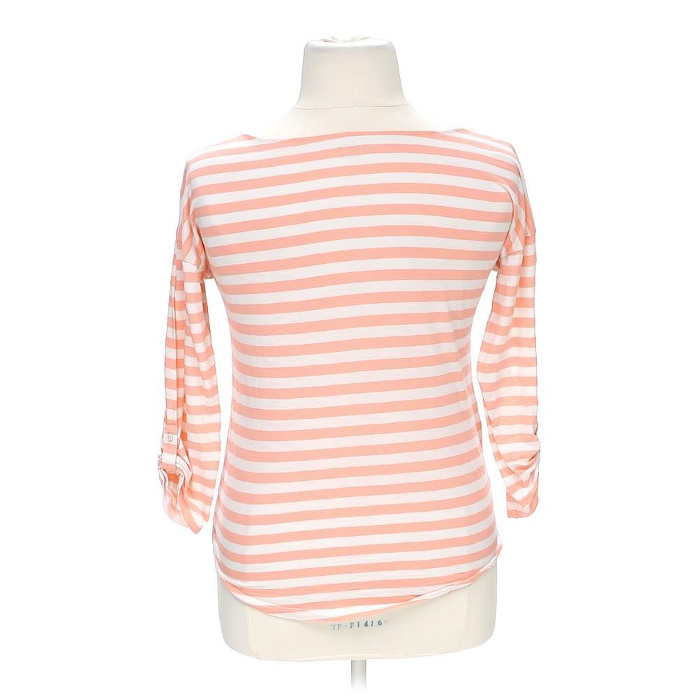 Ann taylor loft striped shirt online consignment for Pink white striped shirt