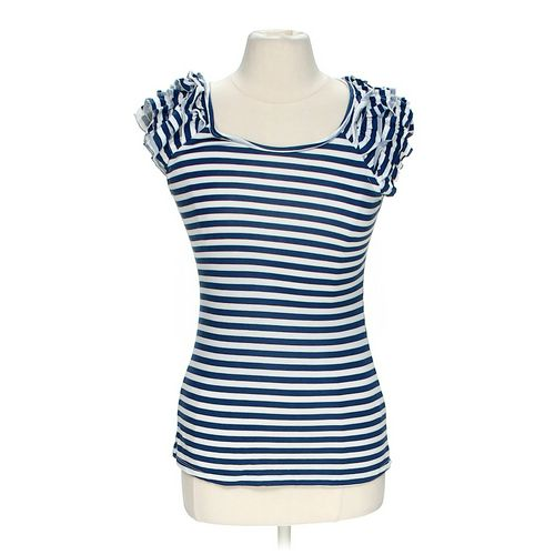 Charlotte Russe Striped Shirt in size M at up to 95% Off - Swap.com