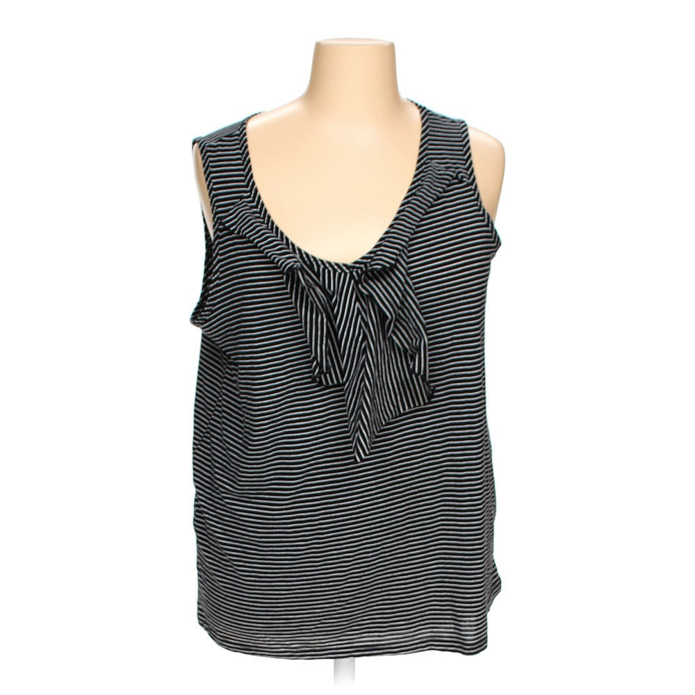 Faded Glory Striped Sleeveless Top In Size 3x At Up To 95
