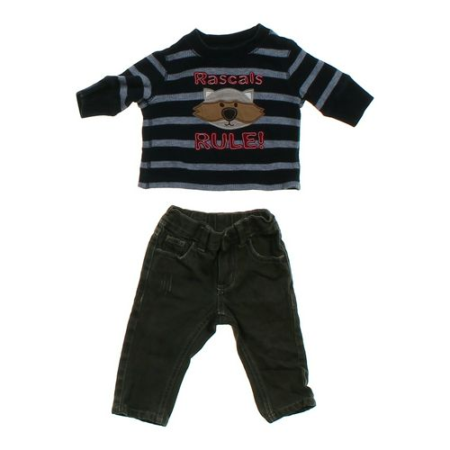 Gymboree Striped Thermal Shirt & Jeans Set in size 3 mo at up to 95% Off - Swap.com